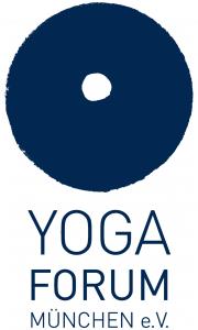 Logo des Yogaforum München e.V. (blau)