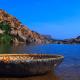 Hintergrundbild - Bot auf einem See