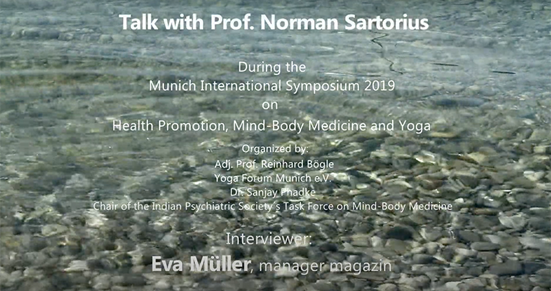 Yoga Forum München e.V. - Interview mit Prof. Norman Sartorius